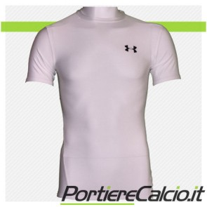 Maglia termica Under Armour Heat Gear corta bianca