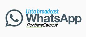 accedi alla nostra lista broadcast su WhatsApp