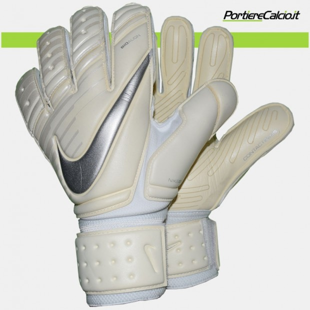 Guanti da portiere Nike Gk Premier SGT bianchi argento