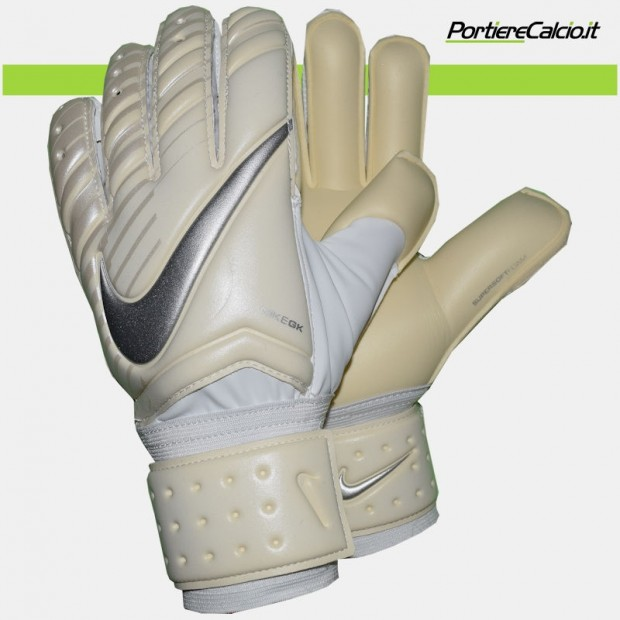 Guanti da portiere Nike Gk Spyne Pro bianchi argento