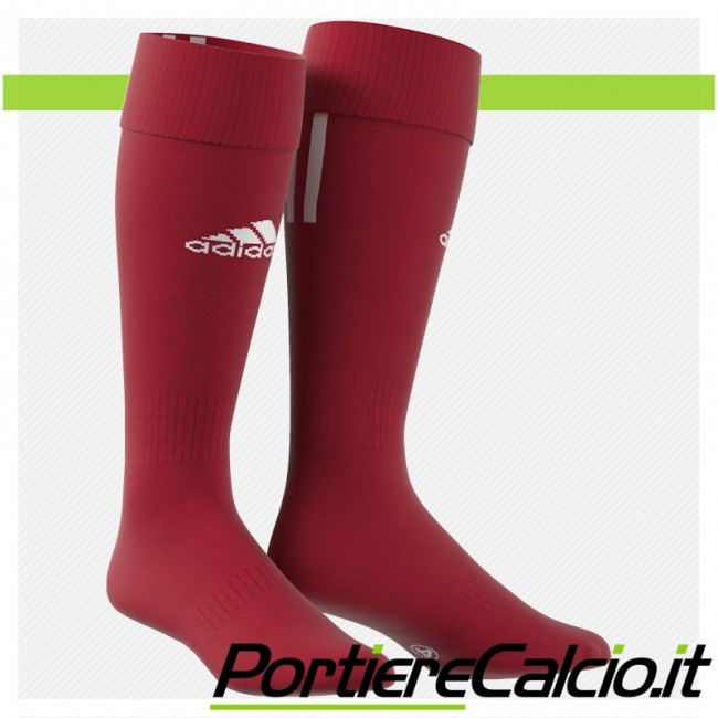Calzettoni Adidas Santos 3 Stripe rossi