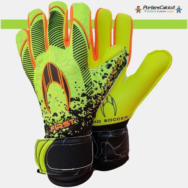 Guanti da portiere Ho Soccer First Superlight Neon Lime