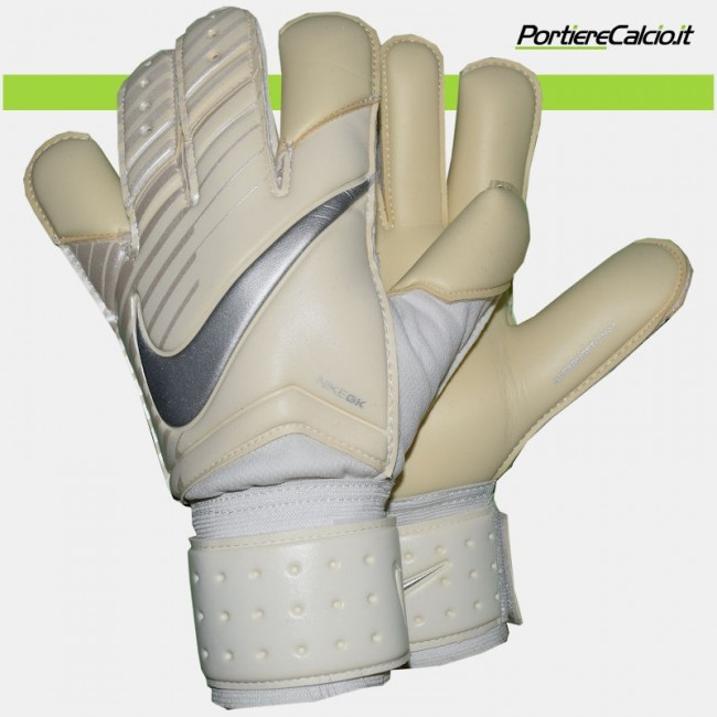 Guanti da portiere Nike GK Grip 3 bianchi argento