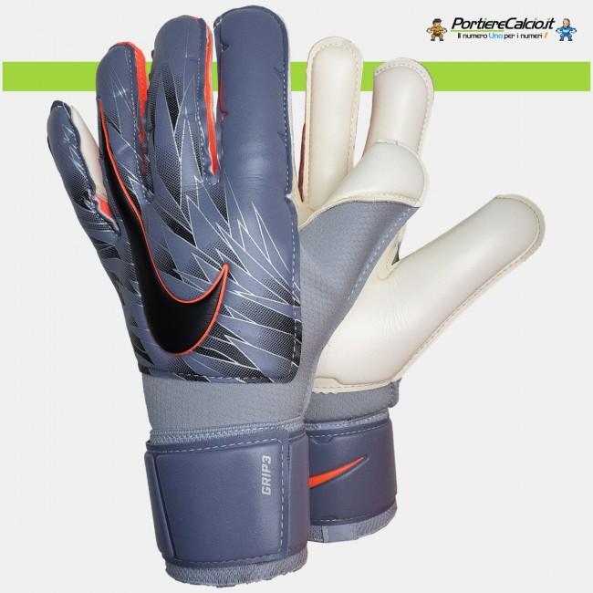 Guanti portiere Nike GK Grip3 blu acciaio junior