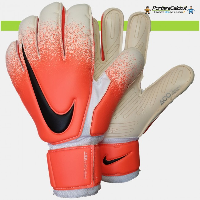 Guanti portiere Nike GK Premier SGT bianco arancio