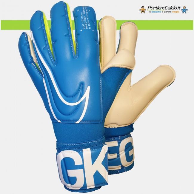Guanti da portiere Nike Gk Vapor Grip3 azzurri bambino