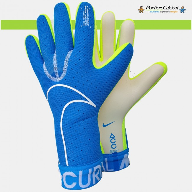 Guanti portiere Nike Mercurial Touch Elite azzurri