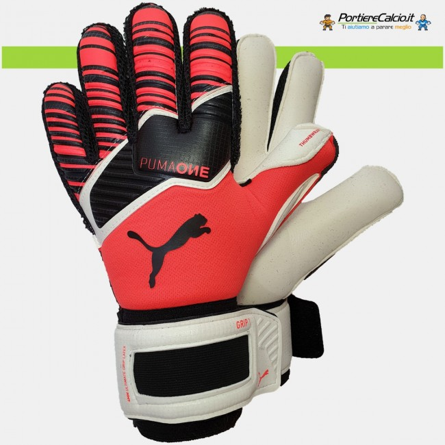 Guanti portiere Puma One Grip 1 Nrgy Red bambino