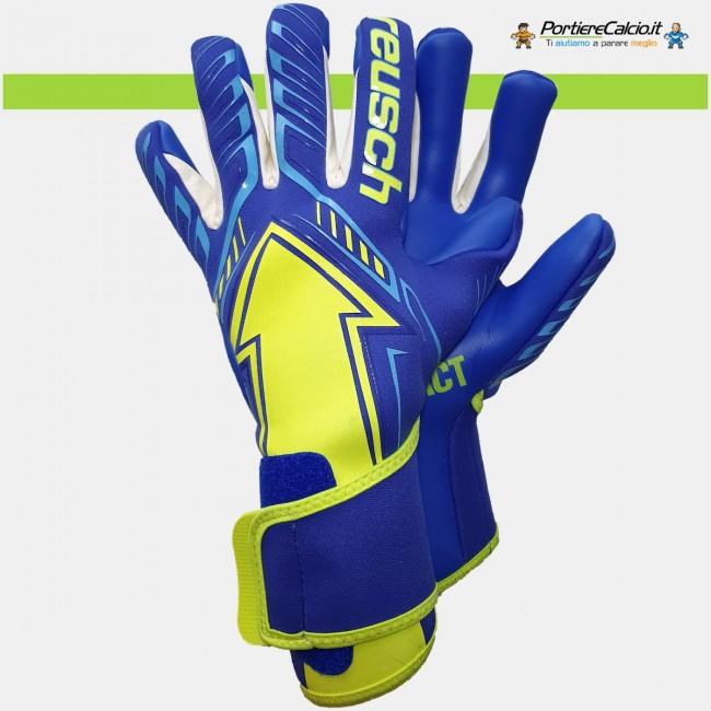 Guanti portiere Reusch Arrow G3 blu giallo