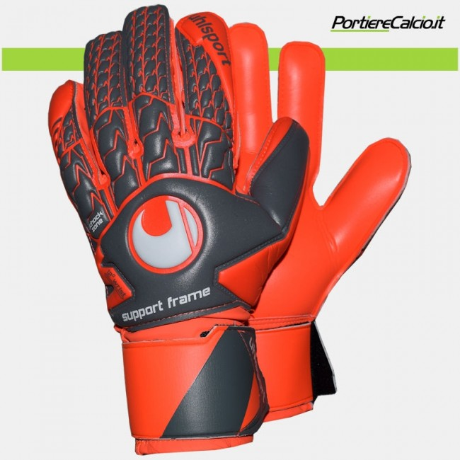Guanti da portiere Uhlsport Aerored Soft Supportframe junior