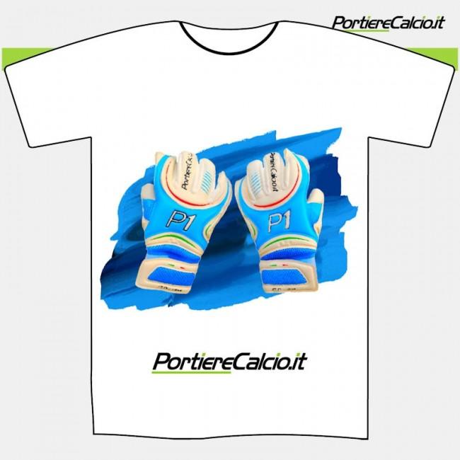 Maglietta cotone Portierecalcio guanti P1