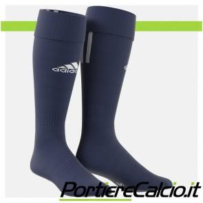 Calzettoni Adidas Santos 3 Stripe blu