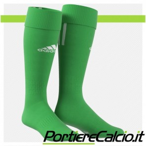 Calzettoni Adidas Santos 3 Stripe verdi