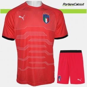 Completo portiere Puma Italia rosso 2018