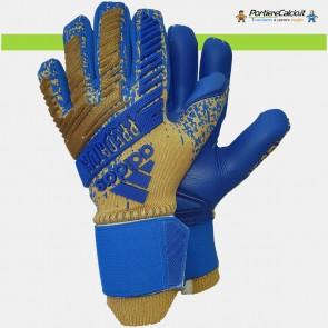Guanti da portiere Adidas Predator Pro Oro Blu