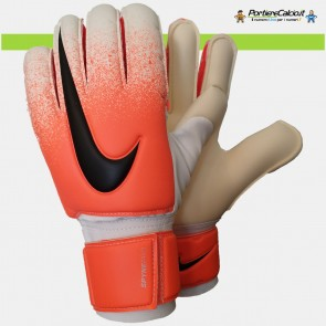 Guanti da portiere Nike Gk Spyne Pro bianco arancio