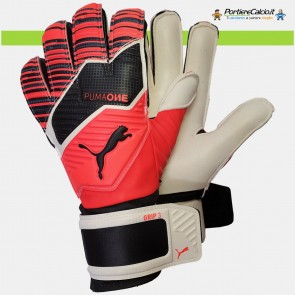 Guanti portiere Puma One Grip 3 Nrgy Red bambino