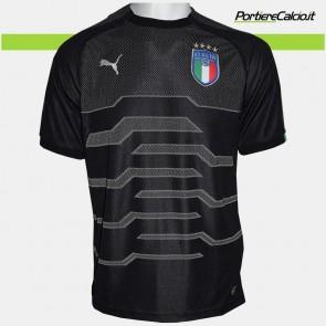 Maglia portiere Puma Italia nera 2018