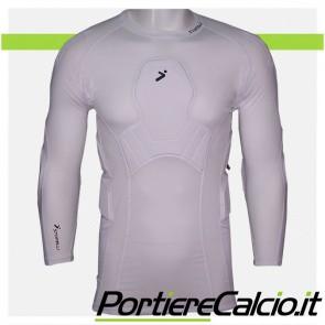 Maglia compressione Storelli Body Shield GK 3/4 Shirt bianca