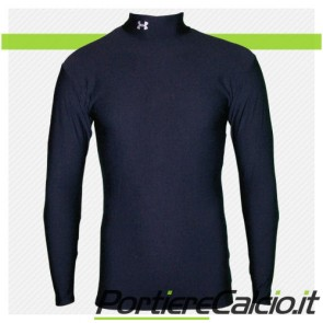 Maglia termica compressione Under Armour Cold Gear Mock nera