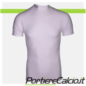 Maglia Under Armour Cold Gear Mock manica corta bianca