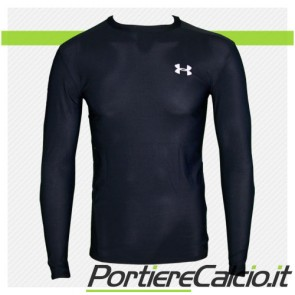 Maglia Under Armour Euro Cold Gear Crew manica lunga nera