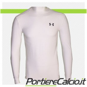Maglia compressione Under Armour Heat Gear manica lunga bianca