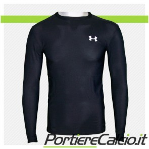 Maglia compressione Under Armour Heat Gear manica lunga nera