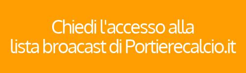 iscrizione lista broadcast Portierecalcio.it