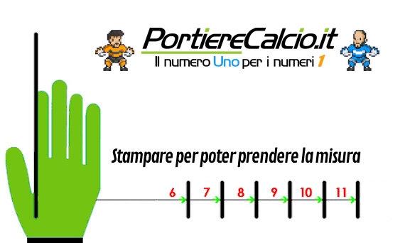 Misuratore misura mano per guanti da portiere Portierecalcio.it