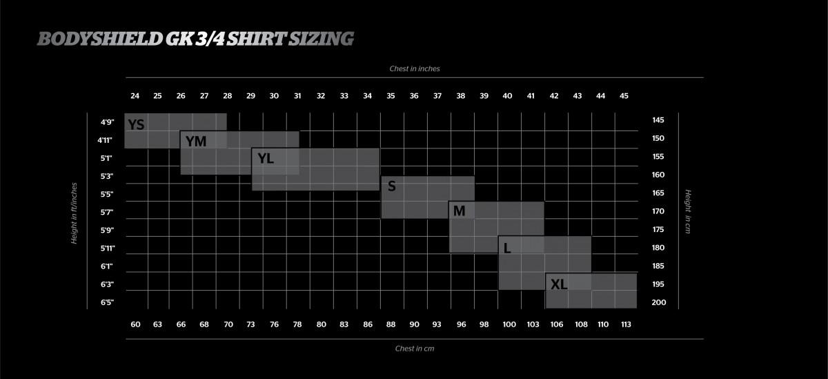tabella misure undershirt Strike Storelli