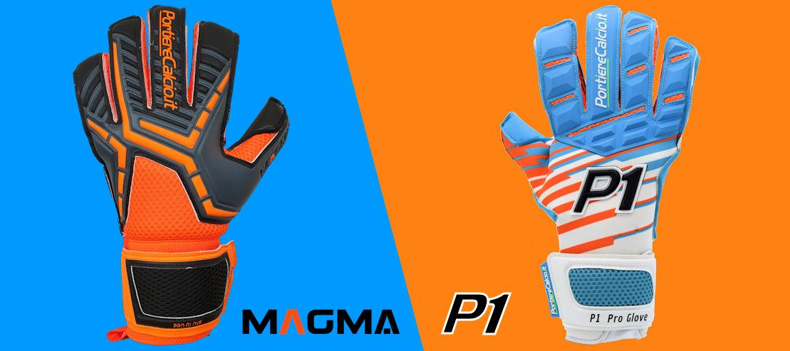 Guanti da portiere P1 e Magma 2020
